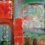 6. Surface Decoration – Acrylic with Monoprint Collage 30 x 30cm